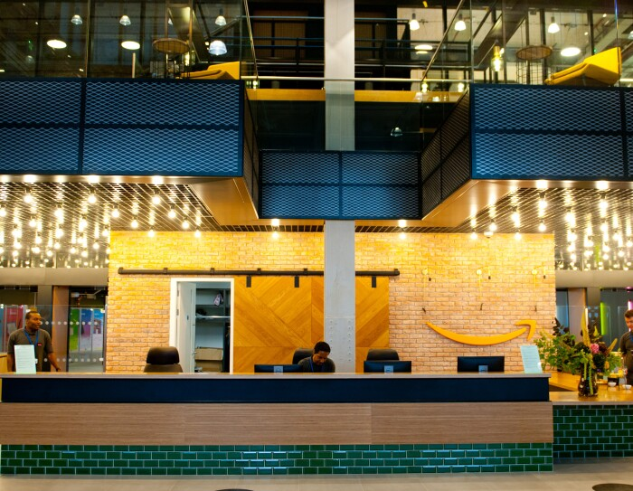 Amazon office in Shoreditch London
