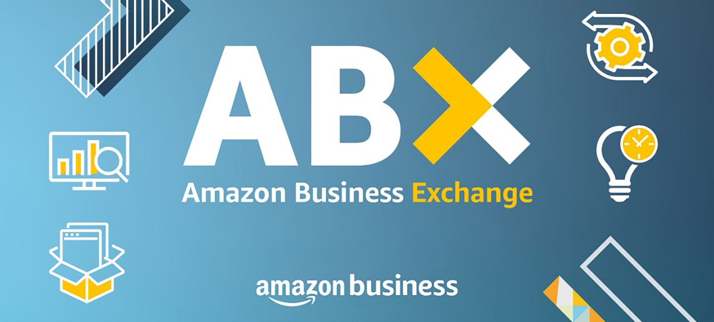 A graphic banner with visual digital icons and the ABX logo and information about the event