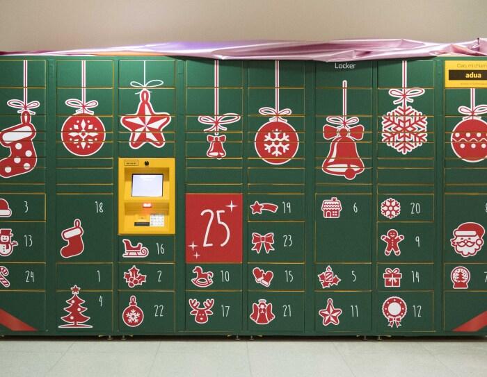 L'Amazon Locker che funge da Calendario dell'Avvento nell'Ospedale San Bortolo di Vicenza