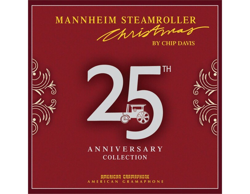 "Album cover of ""Mannaheim Steamroller Christmas"" by Chip Davis"