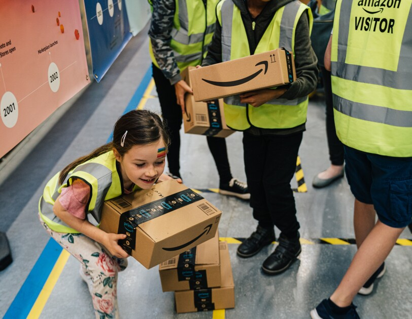 Children at Amazon Goes Gold event Doncaster
