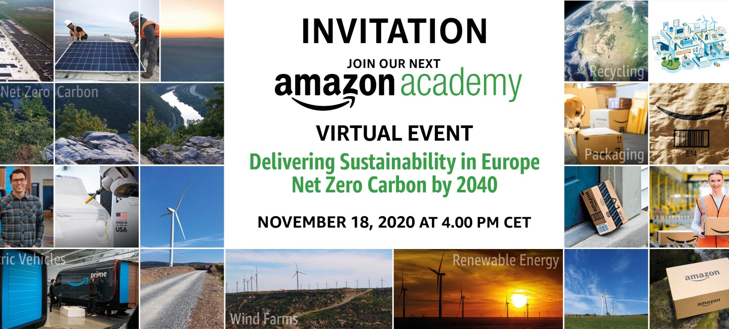 Virtual Amazon Academy 2020 Lead Hero Banner from Oct. 28th with CET