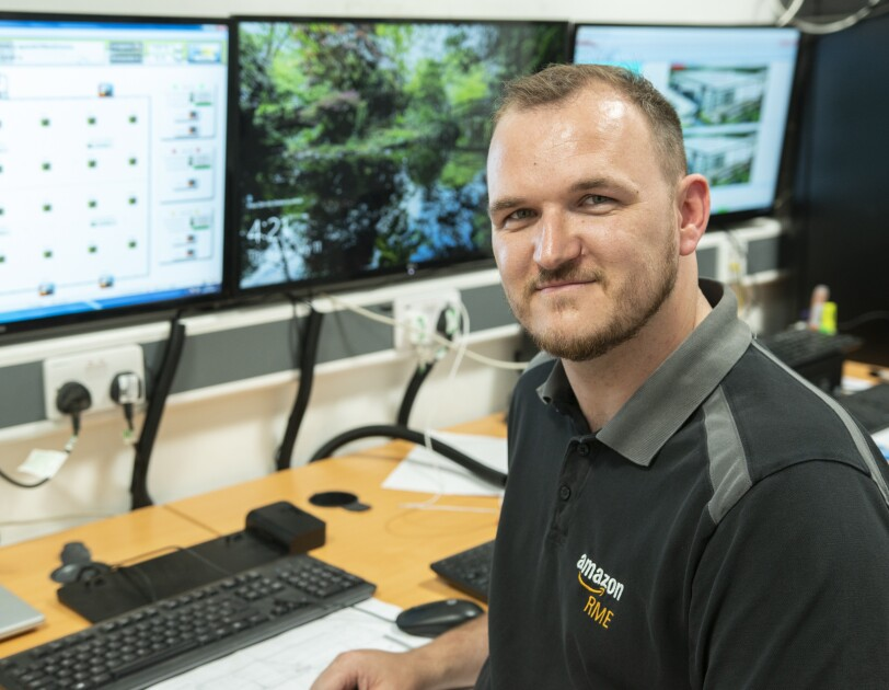 Phil Davenport, 32, is one of the veterans working in Amazon's fulfilment centres.