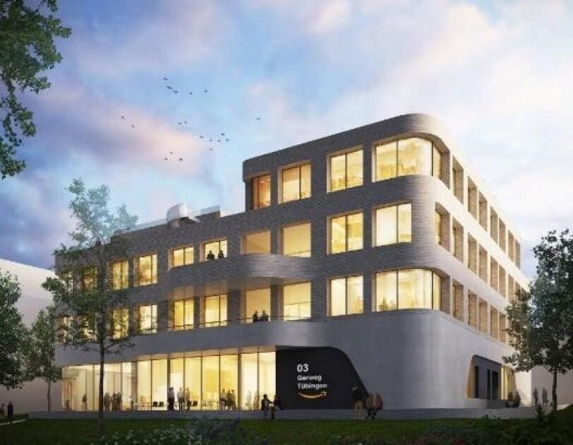 Das Modell des Amazon Gebäudes in Tübingen.