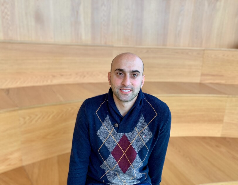 Photo of Wissam Kazan, Chief Technology Officer, Book Depository at work.