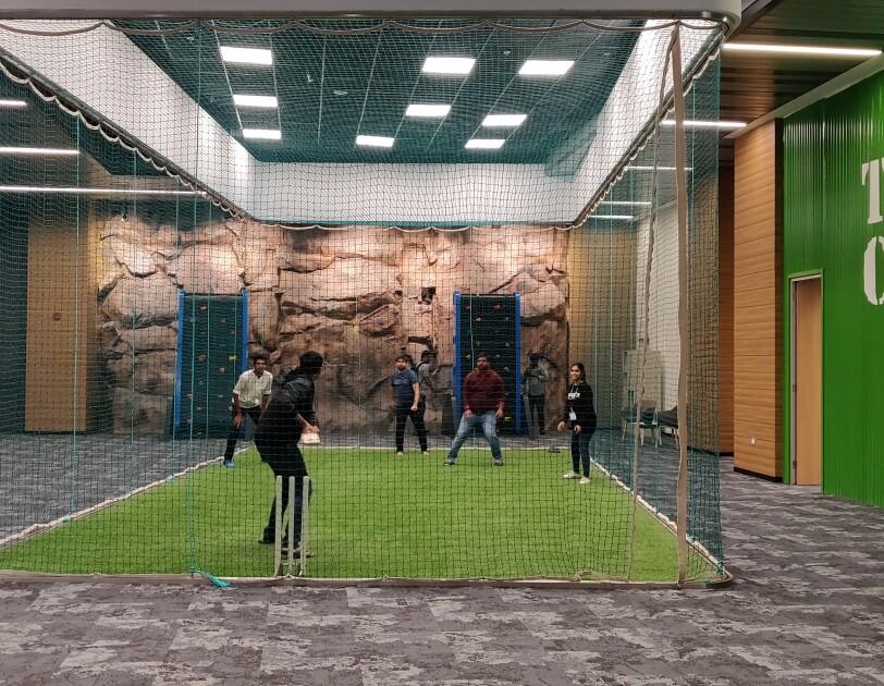 Cricket pitch at Hyd campus