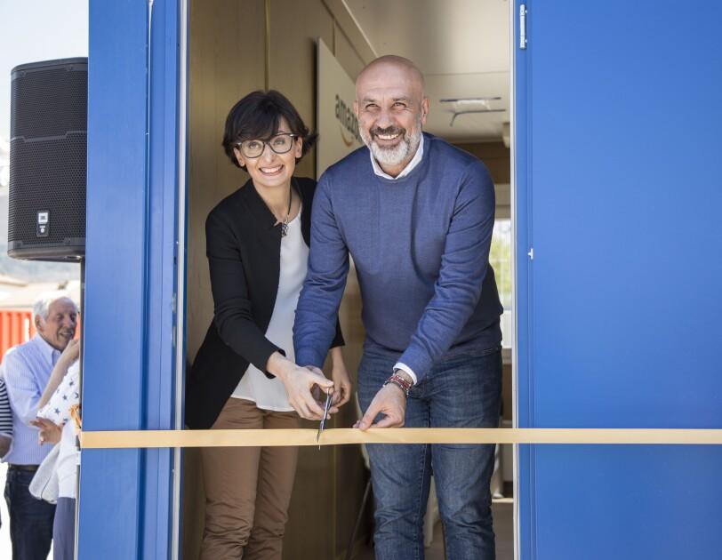 Amatrice library opening