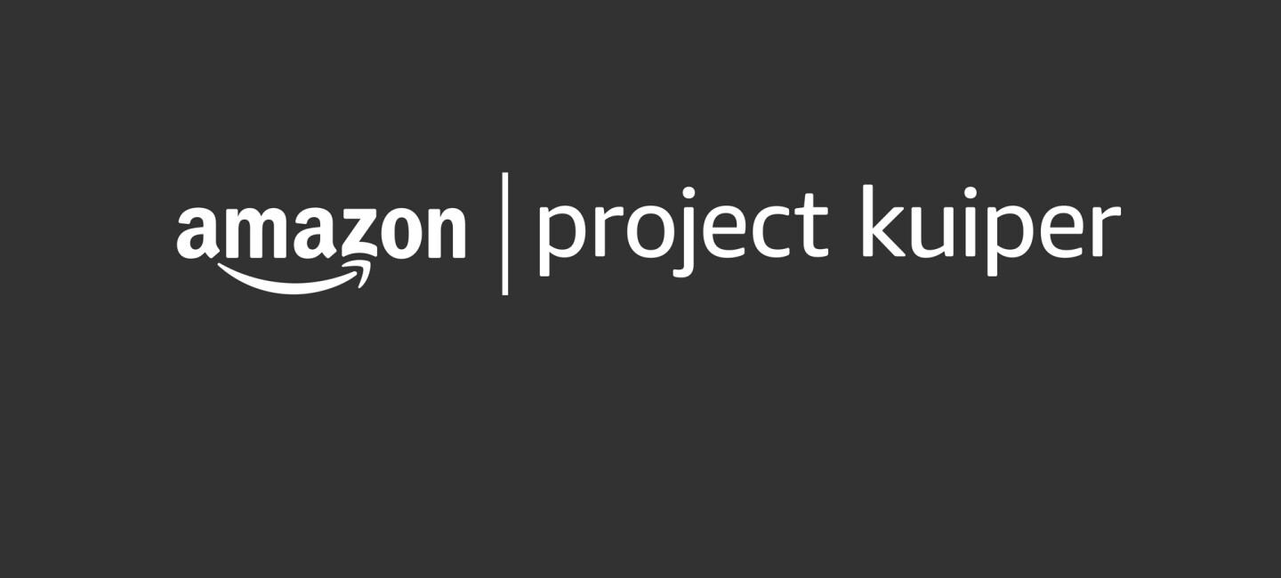 "Amazon logo next to the words ""Project Kuiper"" in lowercase."