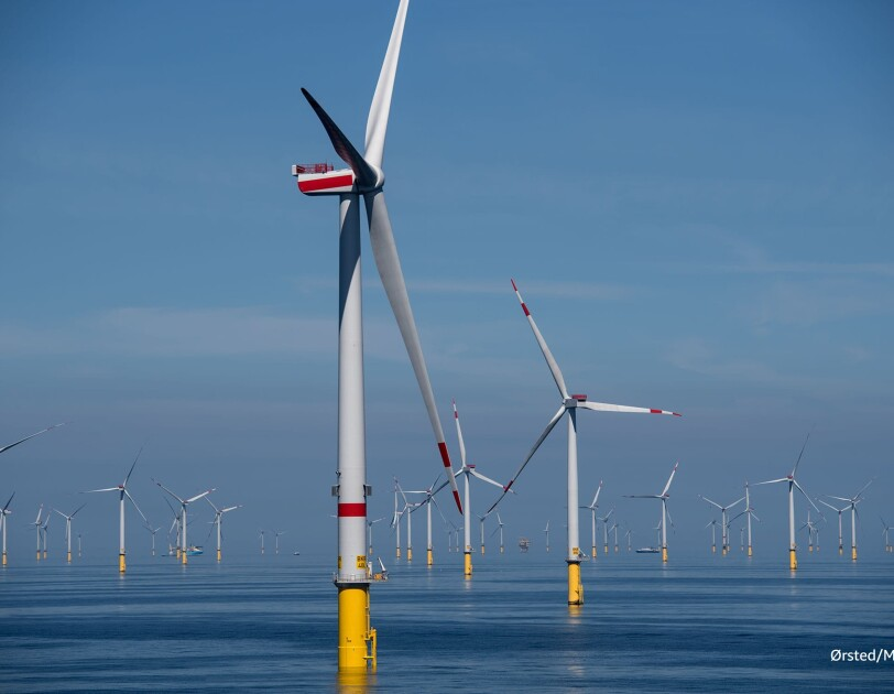 Offshore Windpart Borkum deutsche Nordsee