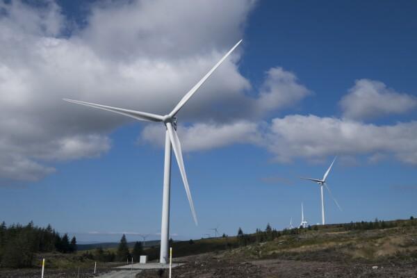 AMazon Scottish wind farm at Kintyre