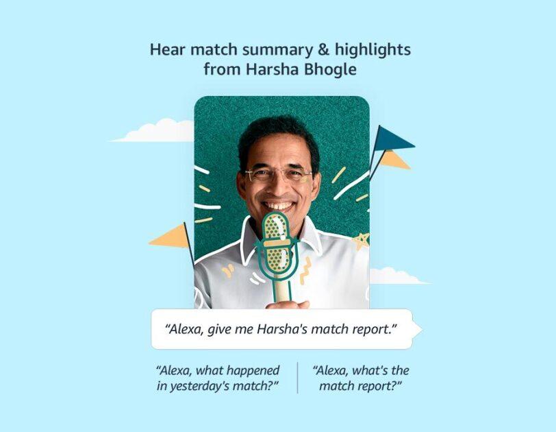 Alexa and Harsha Bhogle Amazon India