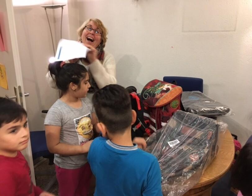 Caritas backpack donations