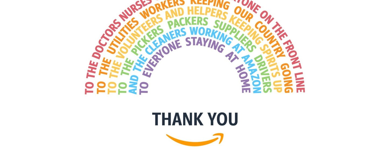 Amazon Thank-you rainbow flag