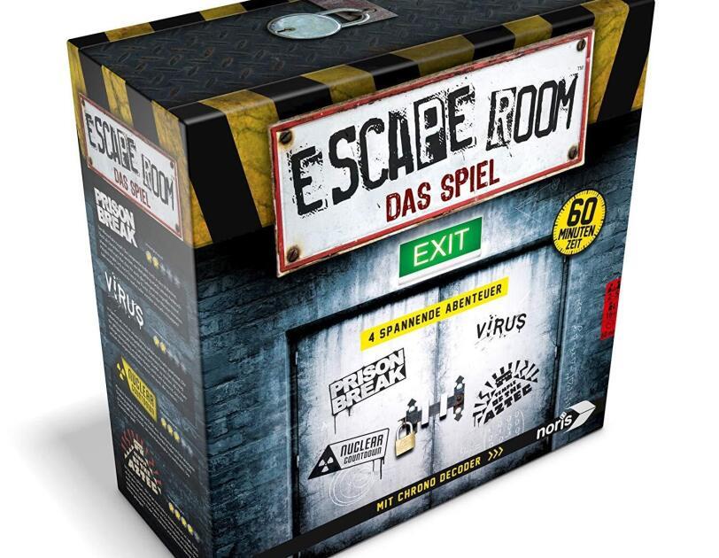 Abbildung des Spiels Escape Room von Noris, erhältlich auf Amazon.de.