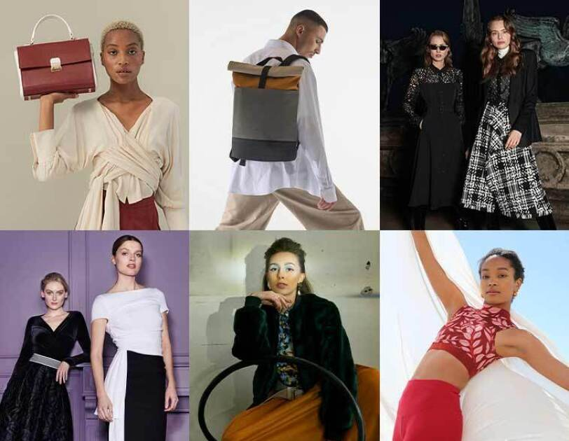 Collage of designers part of Amazon Fashion Connects Germany Instyle