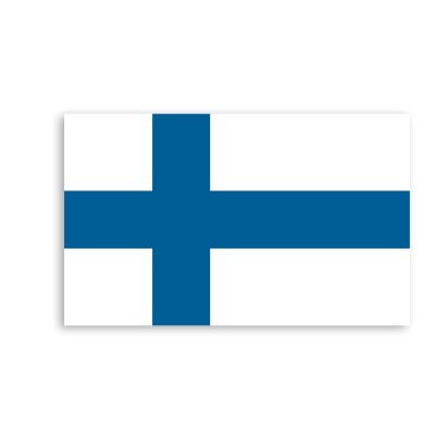 Finland flag map point