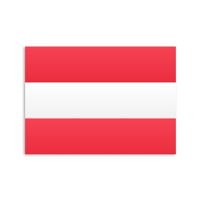 Flat flag of Austria on a white background