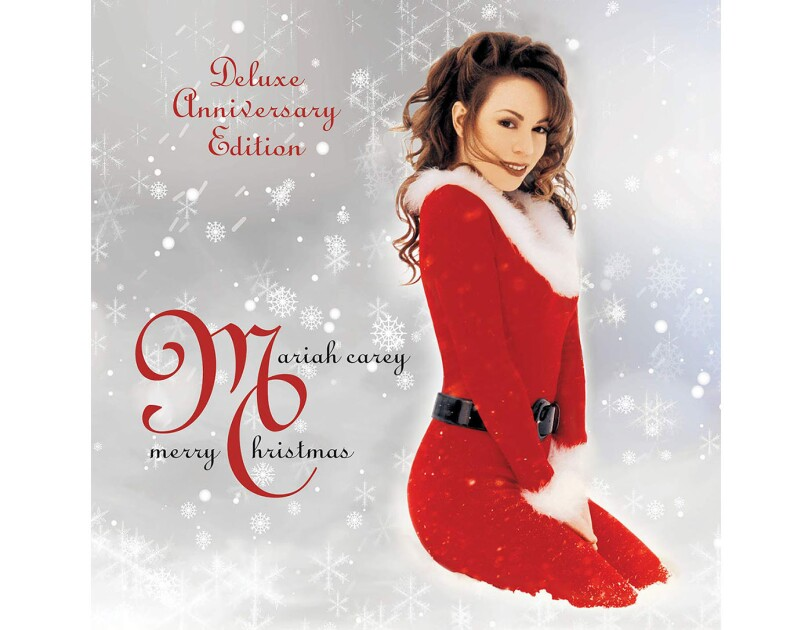"Album cover for ""Merry Christmas"" by Mariah Carey"