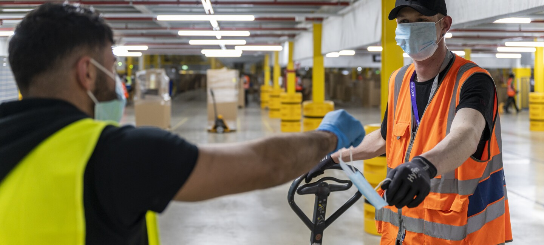 Maßnahmen während der Corona-Krise in den Amazon Logistikstandorten