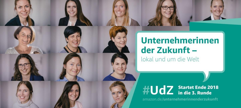 Collage der UdZ Teilnehmerinnen 2018 mit Aufruf zur nächsten Runde: UdZ 3