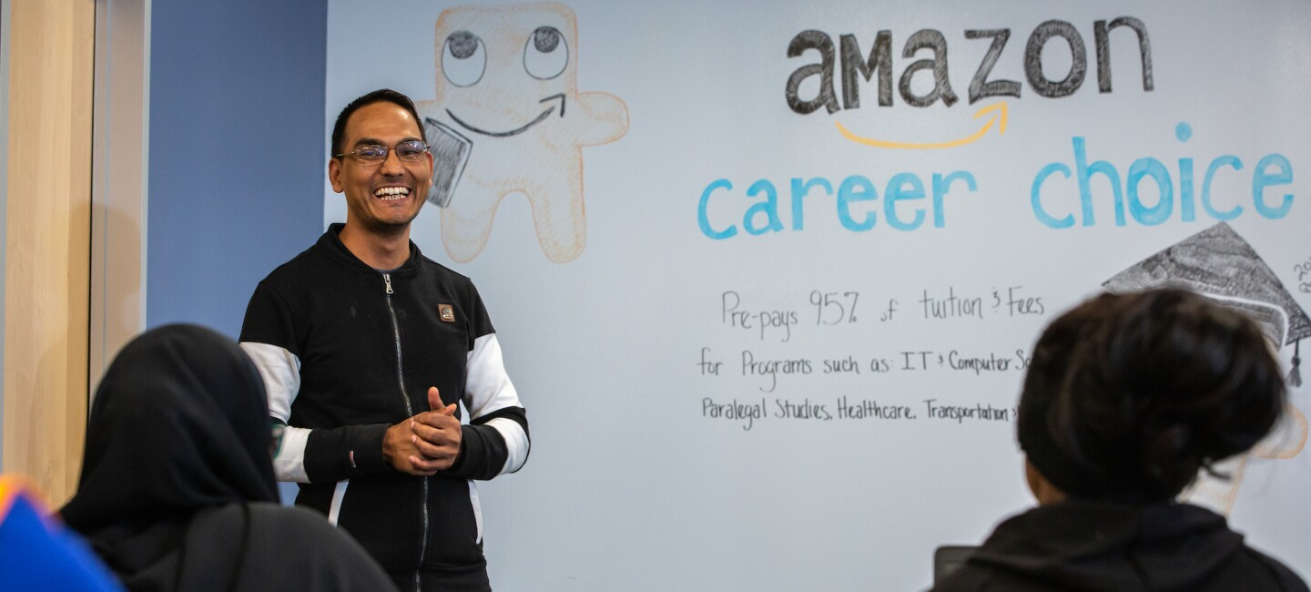 A Career Choice class at an Amazon fulfillment center