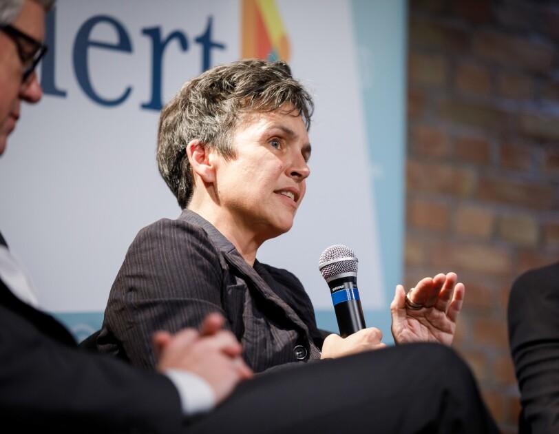 Dr. Joana Breidenbach, betterplace lab Gründerin, bei der digital.engagiert Preisverleihung.