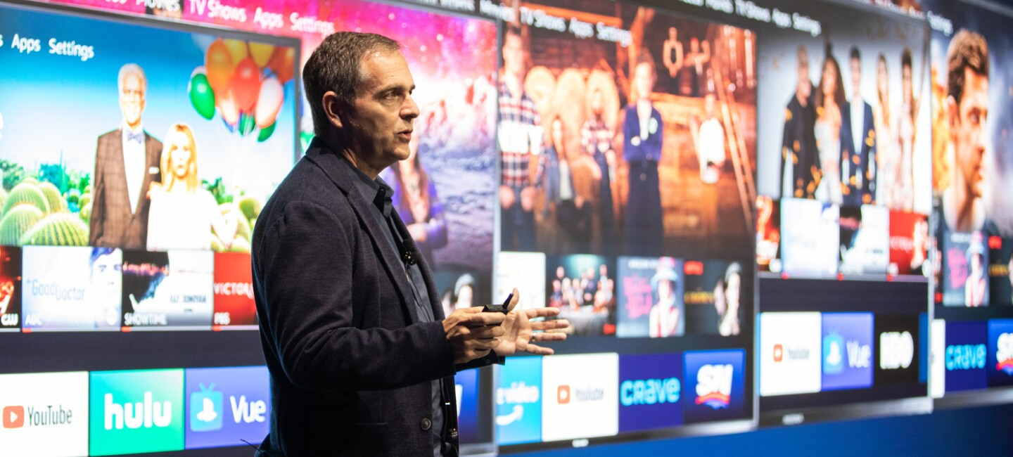 Marc Whitten, Vice President of Fire TV, took the stage in Berlin to introduce more than 20 new Fire TV devices.