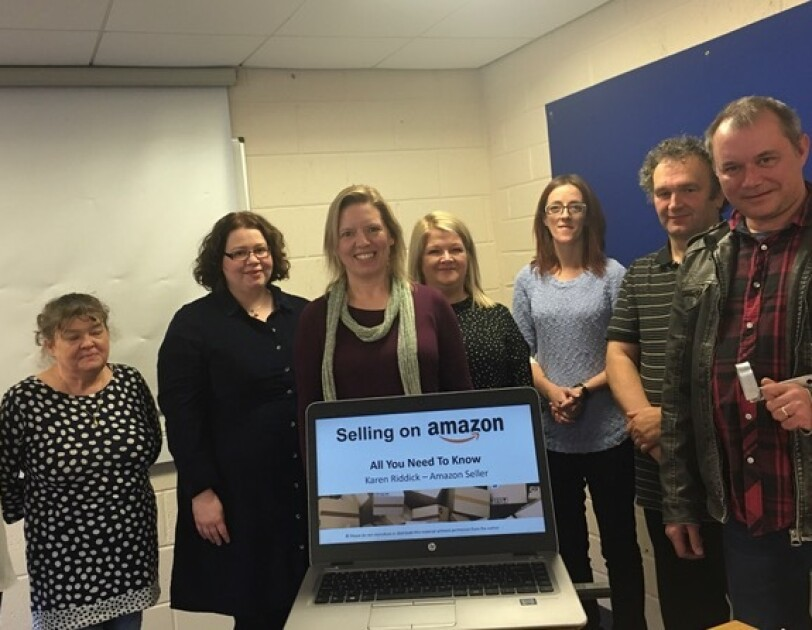 Karen Riddick and the 'Selling on Amazon' group workshop attendees, 7th November 2019