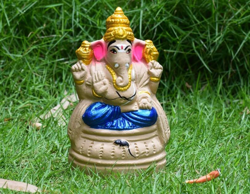 Eco friendly Ganesha idols