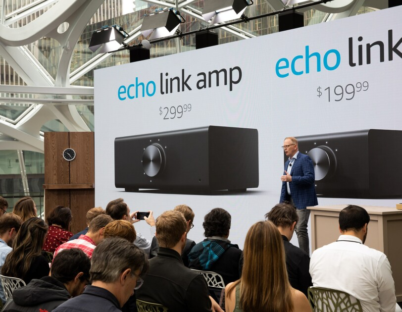 Devices VP Dave Limp introduces Echo Link and Echo Link Amp
