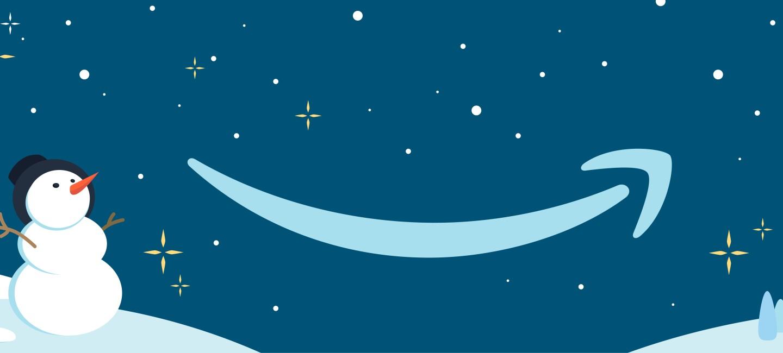 Amazon in Winter-Landschaft