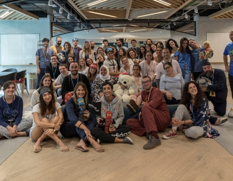 Italian teams celebrating Amazon Goes Gold in Milan corporate office