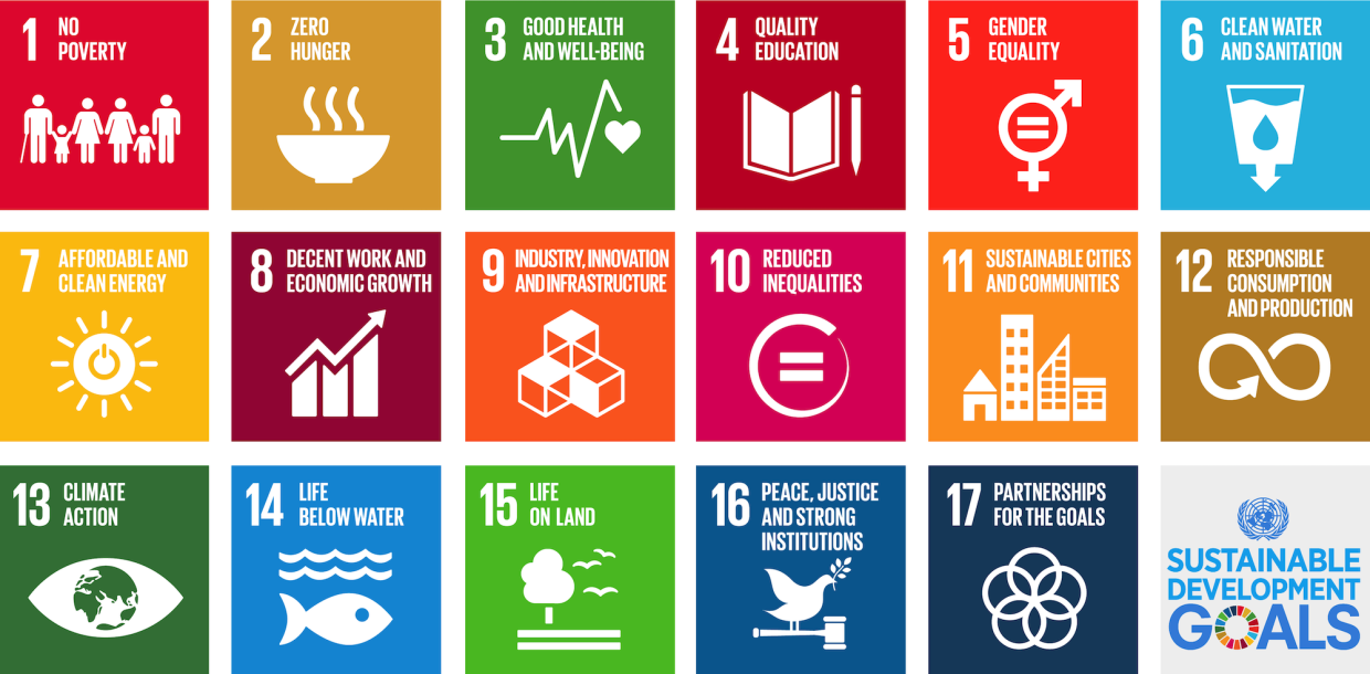 An image that features all of the United Nations Sustainable Development Goals tiles