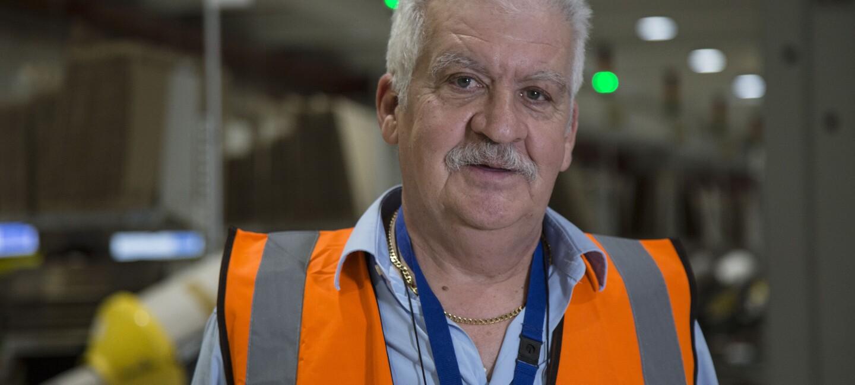 Giuseppe Tonani, operatore di magazzino ora in pensione