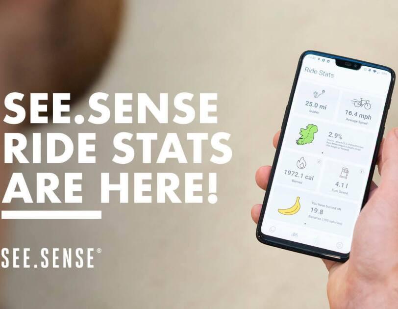 Ride Stats shown on See.Sense app