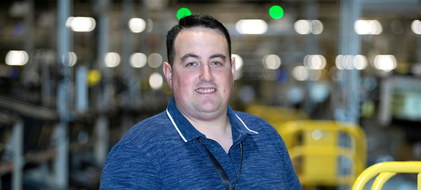 Bruno Henriques, fulfilment centre team lead at Amazon in Coventry, pictured at work