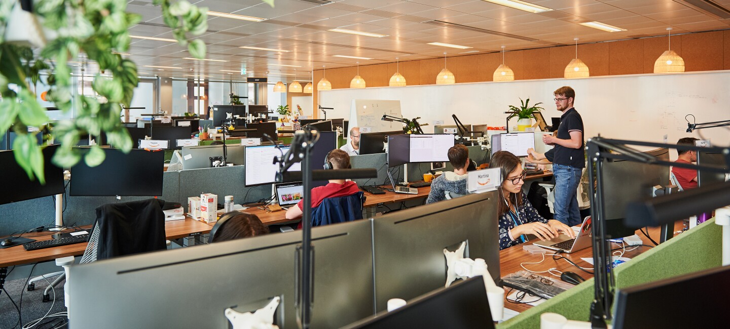 amazon teams working in the office
