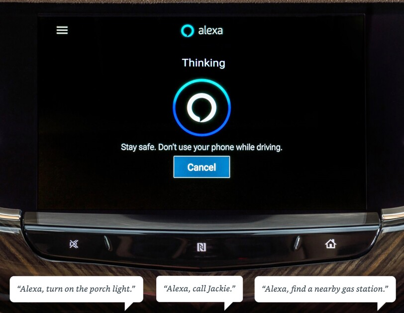 Alexa integration in GM vehicles
