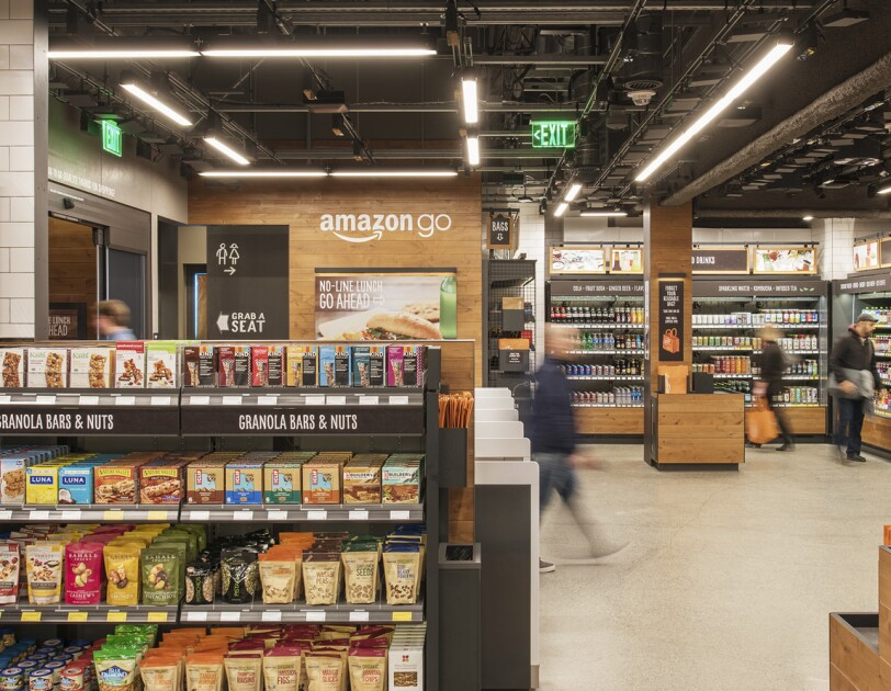 Amazon Go store exterior and details