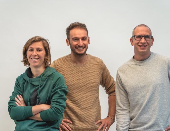 I fondatori di PlayWood: Carlotta Nizzoli, Mirco Bonilauri e Stefano Guerrieri