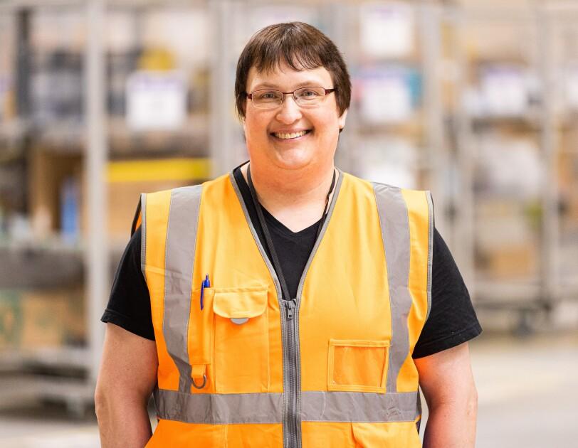 Anja aus dem Logistikzentrum in Werne