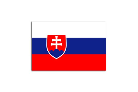 Flat flag of Slovakia, on a white background