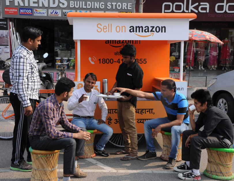 Chai cart of Amazon India