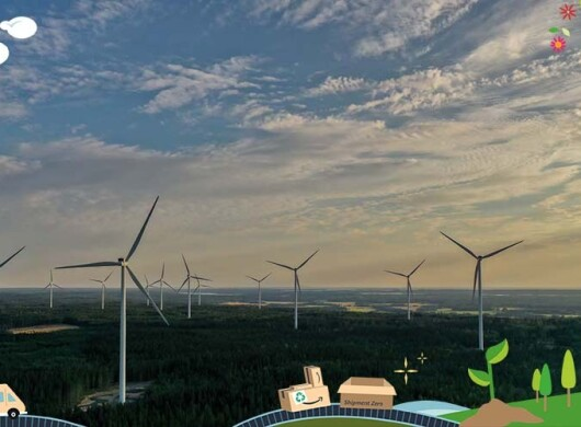 Windpark in Schweden
