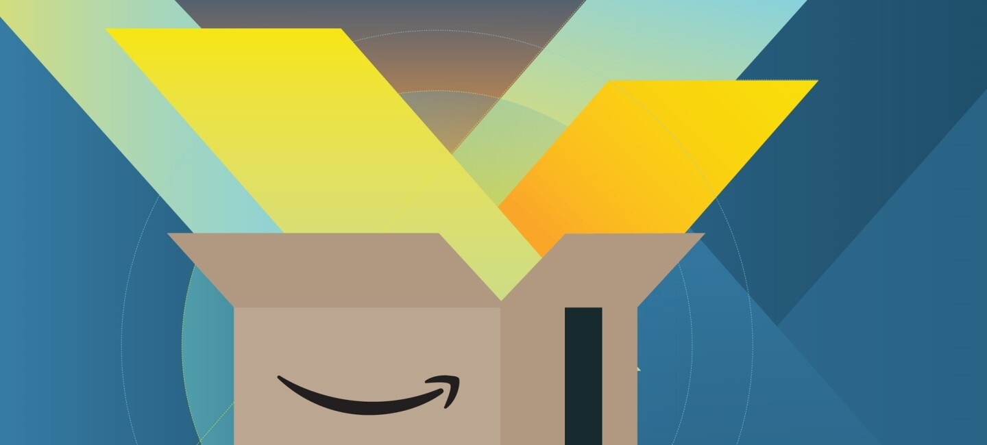 Amazon_Business_Prime Grafik mit Amazon Karton mit Smile
