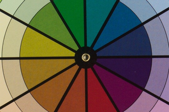 Wedges of colors radiate out from a center point. The colors are separated by black lines.
