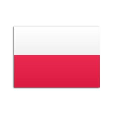 Flat flag of Poland on white background