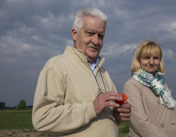 Giuseppe Tonani con la moglie