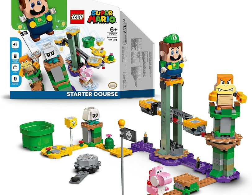 LEGO Super Mario Adventures with Luigi Starter Course Toy, Currently priced at ś44.99 - amazon.co.uk