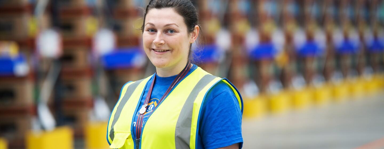 Sophie Martin in Amazon fulfilment centre